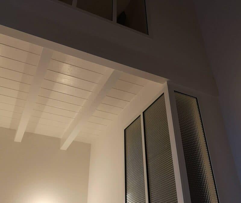 Creation d'une chambre supplémentaire avec une cloison de séparation