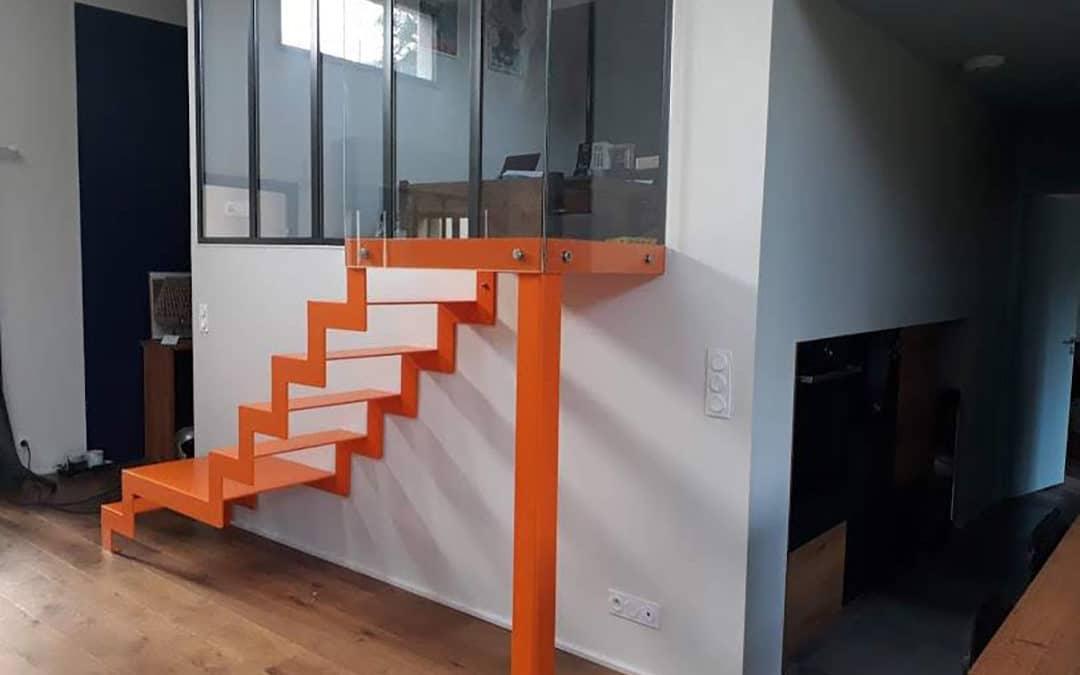 Deux verrières et un escalier sur mesure – Orvault