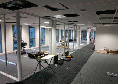 Réaménagement de plateau de bureau